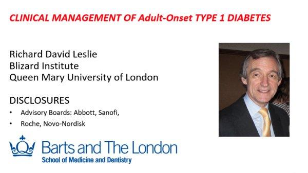 Richard Leslie on clinical management of t1duk